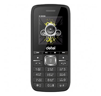 detel d1 boom 1.8 inches display (black)