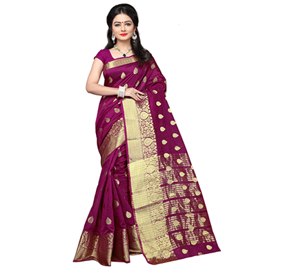 Dhyana Traditional Cotton Silk Woven Saree