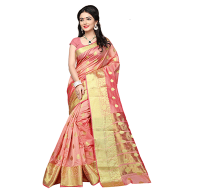 Dhyana Traditional South Indian Cotton Silk Woven Saree
