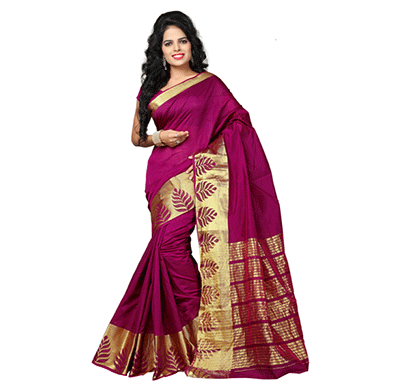 Dhyana Banarasi Style Woven Zari Work Cotton Silk For Women's