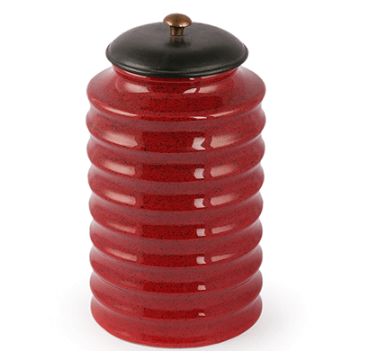 Dileep DPPL-05 Ceramic Canister Red