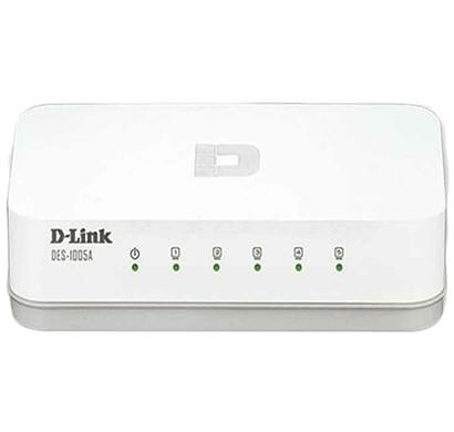 D-Link DES-1005A 5-Port 10/100 Switch (White)