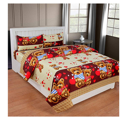 Dream Aura (B07YXSLZSY) Victorian Summer Dream, 100% Polyester Double Bedsheet with 2 Pillow Covers, DA005 (Multi)