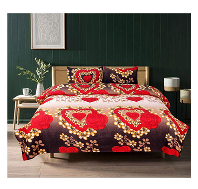 Dream Aura (B07YXNKGR7) Victorian Summer Dream, 100% Polyester Double Bedsheet with 2 Pillow Covers, DA043 (Multi)