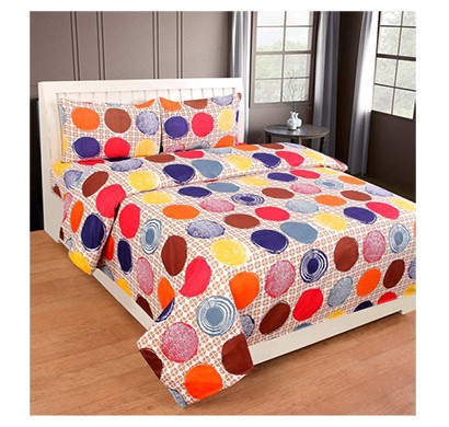 dream aura (b07yxsffnm) victorian summer dream, 100% polyester double bedsheet with 2 pillow covers, da045 (multi)