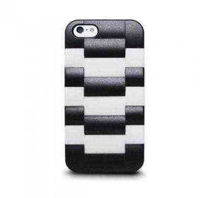 Daytona V - Watchband-Textured Case with Silicone Liner for iPhone 5 - Snow Gray