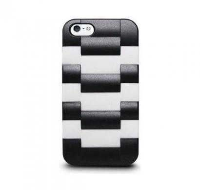 Daytona V- Watchband-Textured Case with Silicone Liner for iPhone 5 (Snow White)