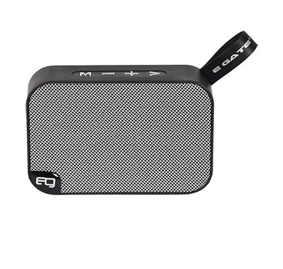 Egate 303 Portable Bluetooth Speaker with Deep Bass and Mic/5W (Grey)