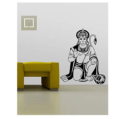 Enormous Kart Lord Hanuman on wall decals (60 cm x 81 cm)