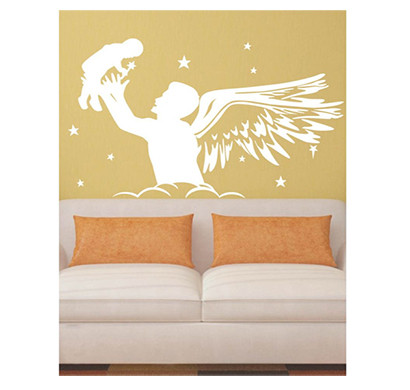 enormous kart on wall white angel dad wall sticker