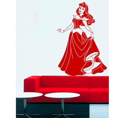 Enormous Kart on Wall Red Sleeping Beauty Wall Sticker