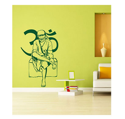 Enormous Kart on wall Sai Naam Wall Sticker (Green)