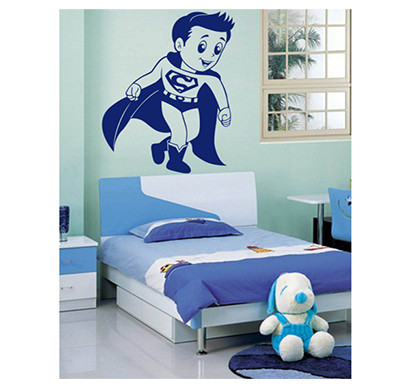 enormous kart on wall blue naughty superman wall sticker