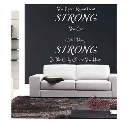 enormous kart on wall pvc how strong you are wall sticker (white)