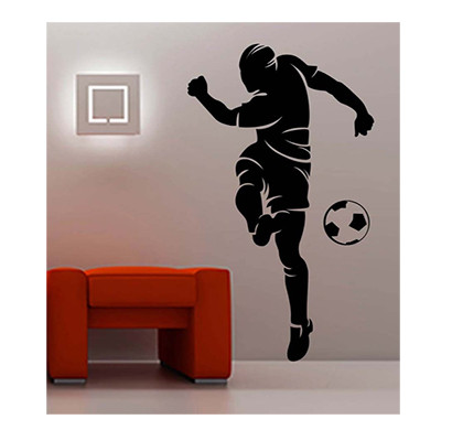 enormous kart on wall matte pvc kick on football wall sticker