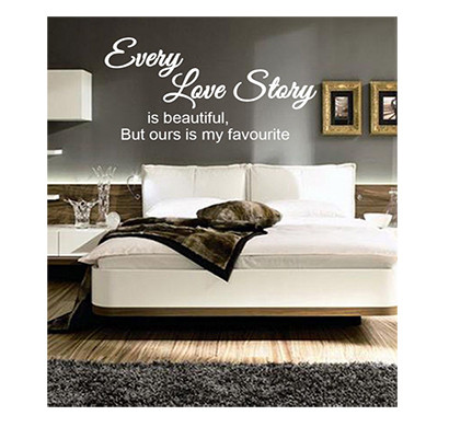 enormous kart on wall black pvc every love story wall sticker