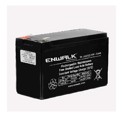 enwalk 12v7.2ah lead acid battery black