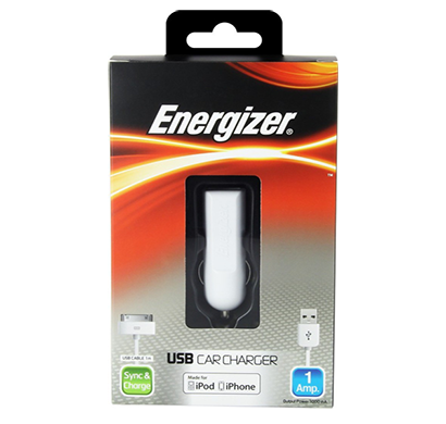 energizer classic car charger 1 usb for iphone 5 white