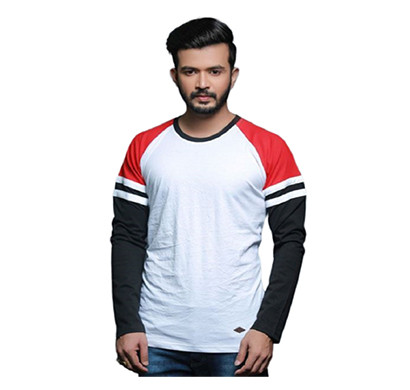 FASHNET ( FI00002) Solid Cotton Round Neck Regular Full Sleeve Men's T-Shirt (Multicolor)