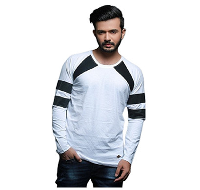 FASHNET (FI00008) Solid Cotton Round Neck Regular Full raglan Sleeve Men's T-Shirt (Multicolor)
