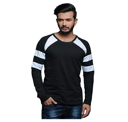 FASHNET (FI00009) Solid Cotton Round Neck Regular Full raglan Sleeve Men's T-Shirt (Multicolor)