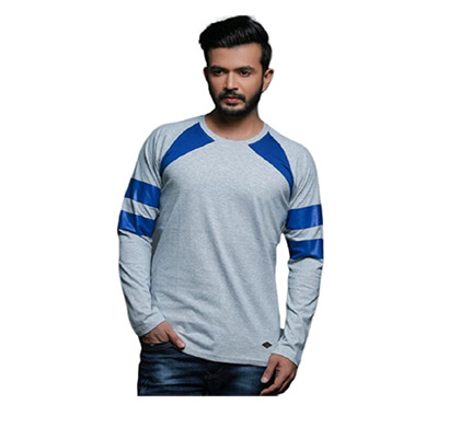 FASHNET (FI00010) Solid Cotton Round Neck Regular Full raglan Sleeve Men's T-Shirt (Multicolor)