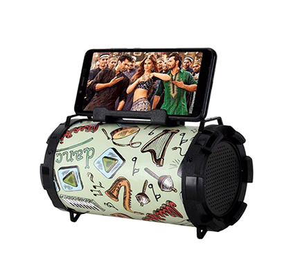 flow dhol 3 w bluetooth home audio speaker