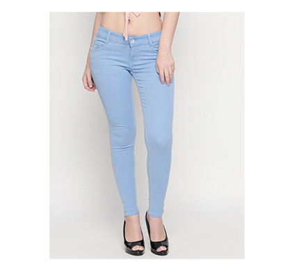 For You For Me (MAA-SILKY IB) Women Western Wear - Western Bottomwear - Jeans -Regular (Ice Blue)