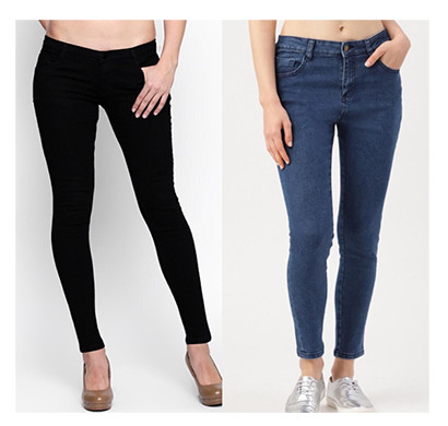 For You For Me (MAA-SILKY BBAS) Women Western Wear - Western Bottomwear - Jeans -Regular (Black and Basic)