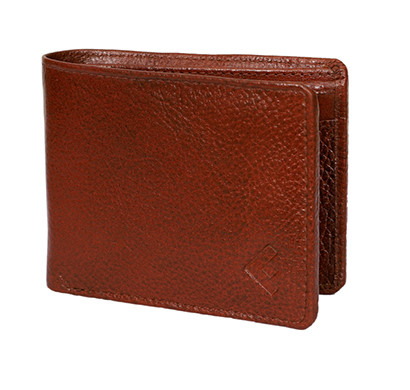fustaan men genuine two-tone leather wallet (brown)