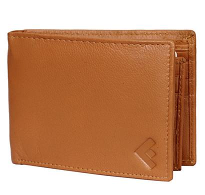 Fustaan Men Genuine Nappa Leather Men Wallet (Tan)