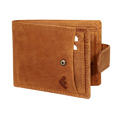 Fustaan Men Genuine Hunter Leather Wallet With Separate Card Holder (Tan)