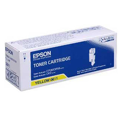 genuine epson - c13s050611, toner cartridge (yellow )