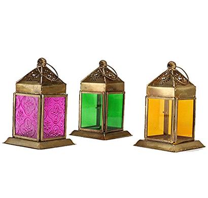 Giftease Mahir & Bros Manufacture And Exporters Iron Lantern Mblw00219 (Pack Of 3)
