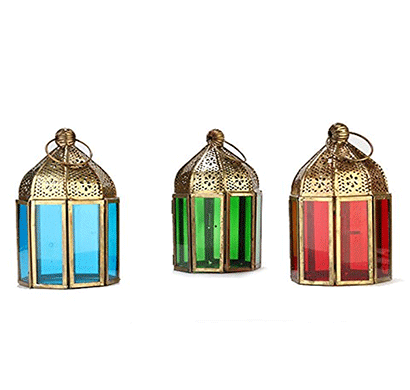 Giftease Mahir & Bros Manufacture And Exporters Iron Lantern Mblw0212 (Pack Of 3)