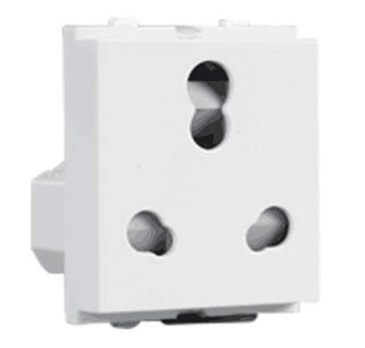 havells crabtree verona 6/16a three pin combined sockets (white)
