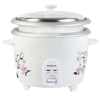 Havells ECook Rice 1.8ltr Electric Rice Cooker 700W (1.8 L, White)