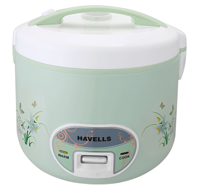 Havells Max Cook Dlx Electric Cooker 1000 W 2.8 Ltr Jointless Body Green