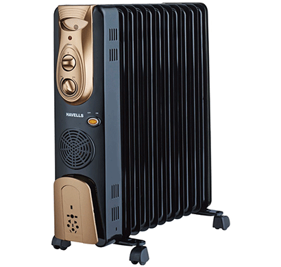 havells 9 fin oil filled radiator 2500w black