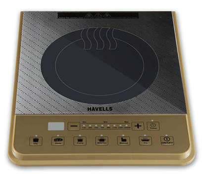 Havells Insta Cook PT 1600-Watt Induction Cooktop 1600W Golden