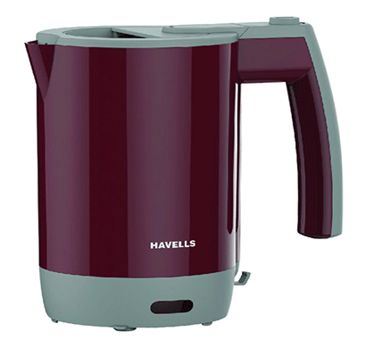 Havells Travel Lite 0.5-Litre Kettle 1000W (Maroon)