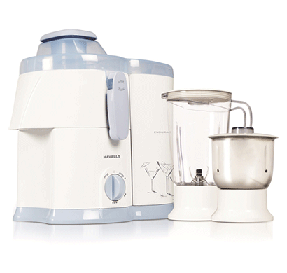 havells endura ghfjmaiw050 500-watt juicer mixer grinder with 2 jars