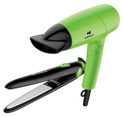 havells - hc4035 combo pack of hair dryer and hair straightener,1 year warranty