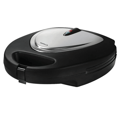 havells toastino stainless steel multigrill sandwich maker 800w (black)