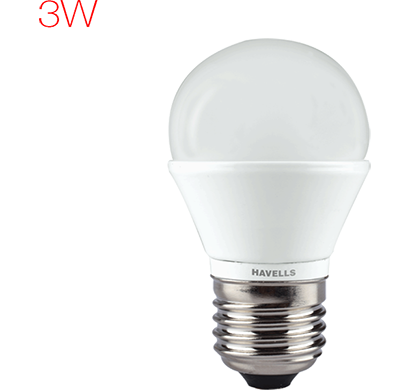 havells - lhlderhemd8x003, new adore led 3w ball e27, warm white, 1 year warranty