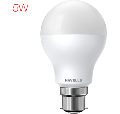havells - lhlderueml8x005, new adore led 5w b22, cool daylight, 1 year warranty