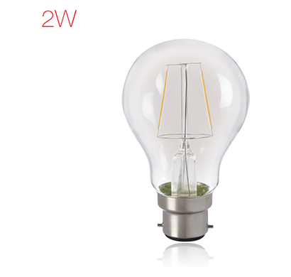 havells - lhlddeecyc8u002, brightfill led filament a60 - 2wa60 b22, warm white, 1 year warranty