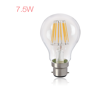 havells - lhlddeecyc8u7x5, brightfill led filament a60 - 7.5w a60 b22, warm white, 1 year warranty