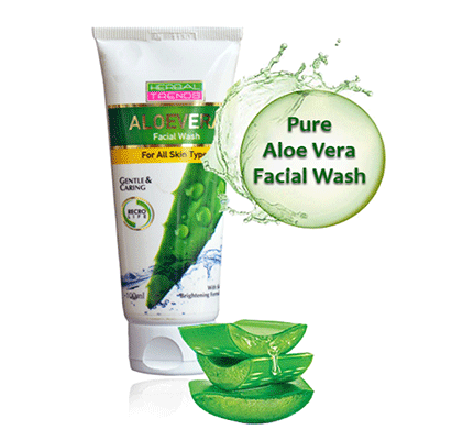 Herbal Trends Pure Aloe Vera Face Wash - (Loaded with herbs) For All skin