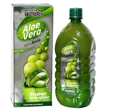 Herbal Trends Aloe Vera with Amla- Super Energizer - Pure, Fresh, Undiluted, 100 Natural
